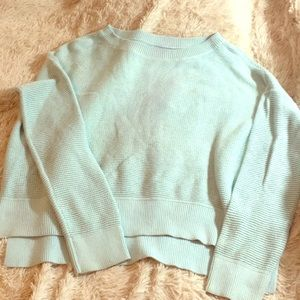Loft turquoise hi low sweater size XL